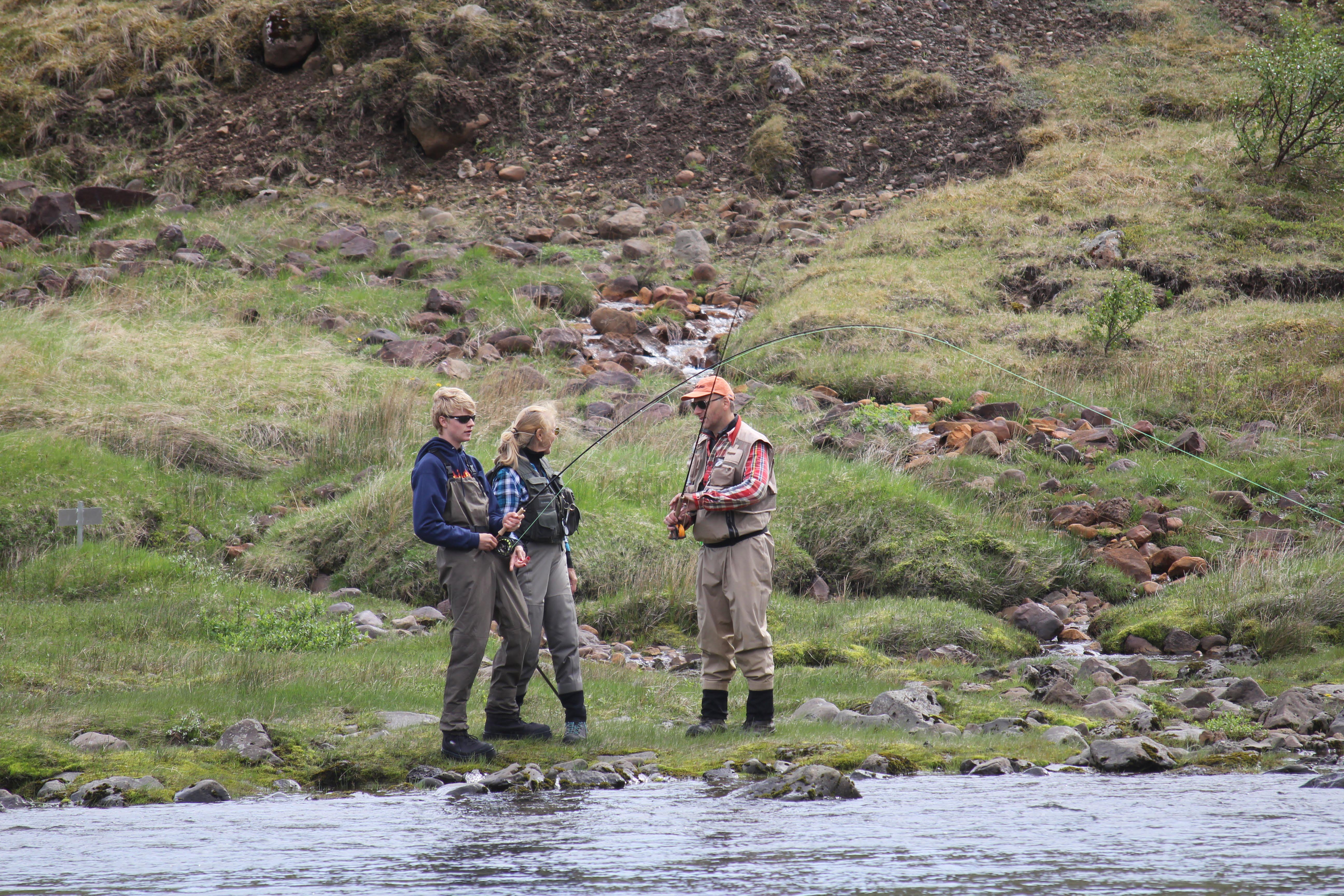 Norðurá, Eyrin